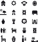 Icons related to Africa Royalty Free Stock Photo