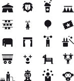 Icons related to the circus Royalty Free Stock Images