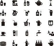 Icons related to drink and beverages Royalty Free Stock Image