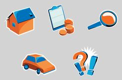 Icons related to the internet. Set of icons related to the internet vector illustration