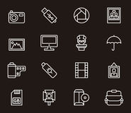 Icons related to photography Stock Photo