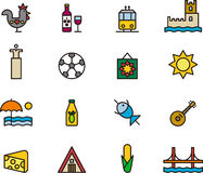Icons related to Portugal Stock Image