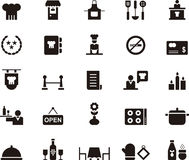 Icons related to a restaurant Royalty Free Stock Photos