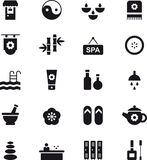 Icons related to spa and health care Stock Photography