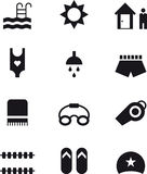 Icons related to swimming Stock Photography