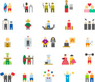 Icons related to a variety of people  Stock Image