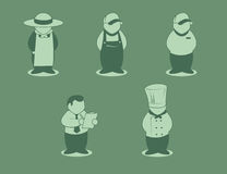Food Chain Workers. Icons representing the food industry vector illustration
