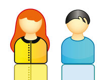 Icons representing people Royalty Free Stock Photo