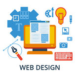 Icons for responsive web design and graphic design. Flat design concept icons for web and mobile services and apps. Icons for responsive web design and graphic Royalty Free Stock Photo
