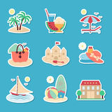 Icons of rest and the sea. Royalty Free Stock Image