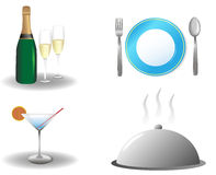 Icons restaurant Royalty Free Stock Photos