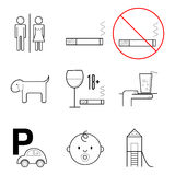 Icons for restaurant Stock Images