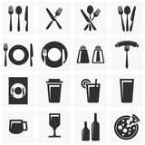 Icons for restaurant Royalty Free Stock Image