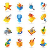 Icons for retail commerce. Vector illustration Royalty Free Stock Photo