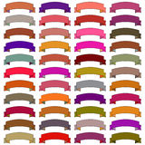 Icons ribbons of different colors. Raster Stock Image
