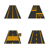 Icons of the road, vector illustration. Stock Image