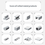 Icons of rolled metal products Royalty Free Stock Photography