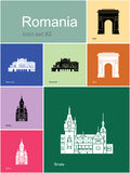 Icons of Romania Royalty Free Stock Images
