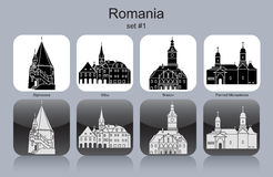 Icons of Romania Stock Image