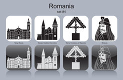 Icons of Romania Royalty Free Stock Photo