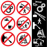 Icons_safety Imagens de Stock Royalty Free