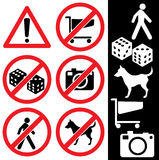 Icons_safety Imagens de Stock