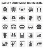 Icons. Safety equipment icons sets on white background Stock Images