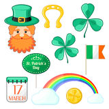 Icons for Saint Patrick's Day Stock Photography