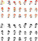 Icons of Santa Claus. Cute icons of children who made a figure of Santa Claus Stock Photos