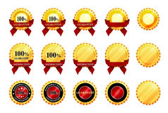 Icons of satisfaction and guarante Royalty Free Stock Photo