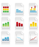 Icons of schedules2 Royalty Free Stock Photo