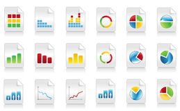 Icons of schedules4 Stock Photography
