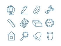 Icons school Stock Image