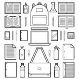 Icons: School Supplies Stock Images