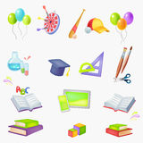 Icons School theme Stock Photos