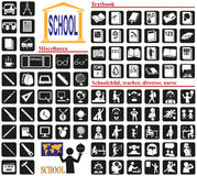Icons school Stock Photography