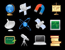 Icons for science Royalty Free Stock Images