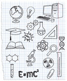 Icons a science. Vuktornaja illustration of icons on a chemistry theme Royalty Free Stock Photos