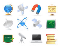 Icons for science Stock Photo