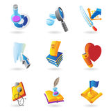 Icons for science and education Royalty Free Stock Photography
