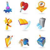 Icons for science and education Stock Photography