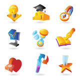 Icons for science and education Stock Image