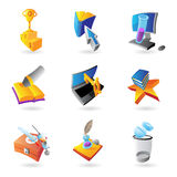 Icons for science and education Royalty Free Stock Images