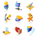 Icons for science and education Stock Photo