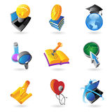Icons for science and education Stock Images