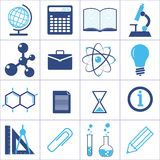 Icons of a science and education Stock Photos