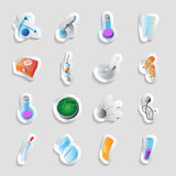 Icons for science and medicine Royalty Free Stock Photography