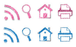 ICONS Scribble Royalty Free Stock Images
