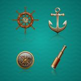 Icons Sea Royalty Free Stock Photos