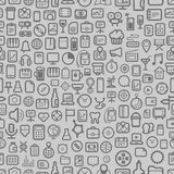 Icons seamless background Royalty Free Stock Images